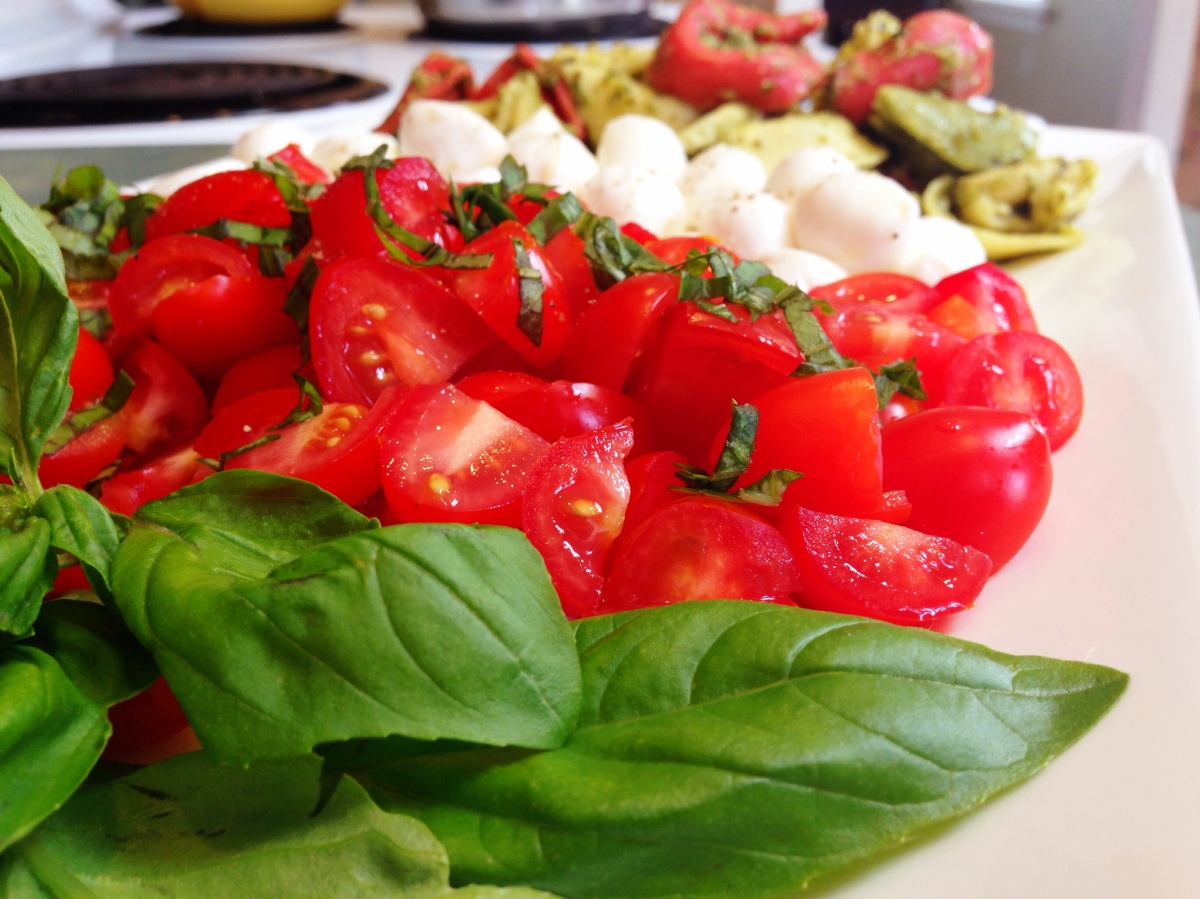 Caprese Salad Deconstructed
